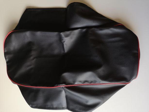Pokrowiec siedzenia WSK czarny, żyłka czerwona