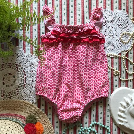 Купальник в цветы в стиле ретро винтаж Miniclub на 1,5-2 года