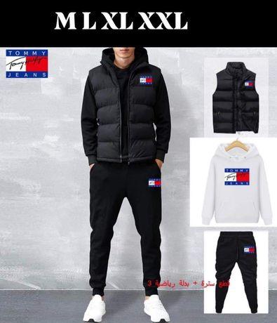 Komplet męski 3 częściowy dres + bezrękawnik Tommy M L XL XXL