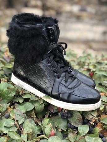 Сапоги кеды кроссовки зима Gucci р 37-38