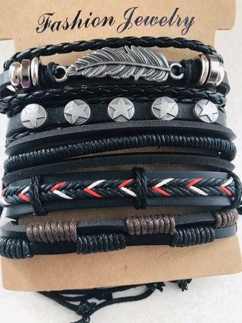 Набор мужских браслетов