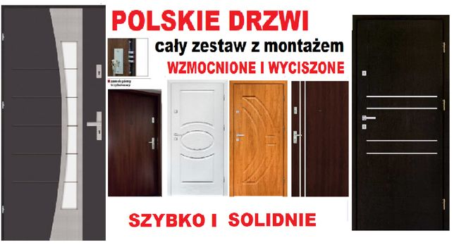 Drzwi z MONTAŻEM,wewnątrzklatkowe-zewnętrzne,WEJŚCIOWE do mieszkania