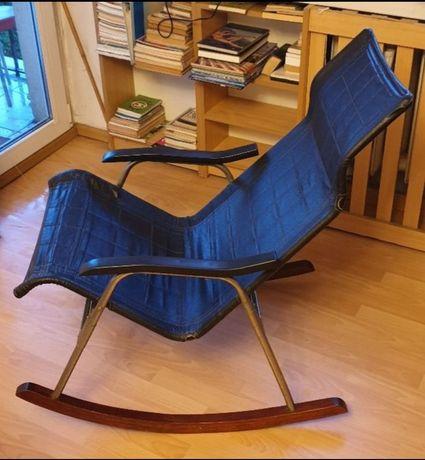 Fotel bujany projektanta Takeshi Nii, Japonia z lat 50-tych