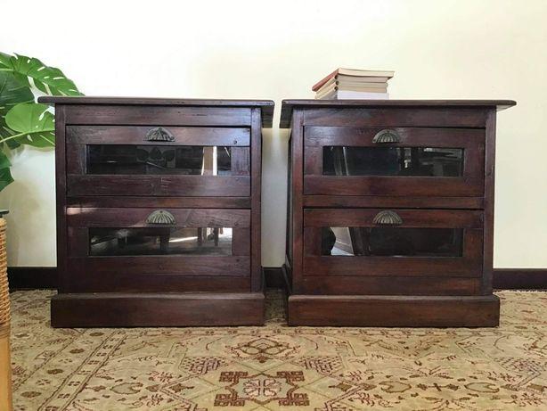 2 mesas, cabeceira,, colonial, vintage, rustico