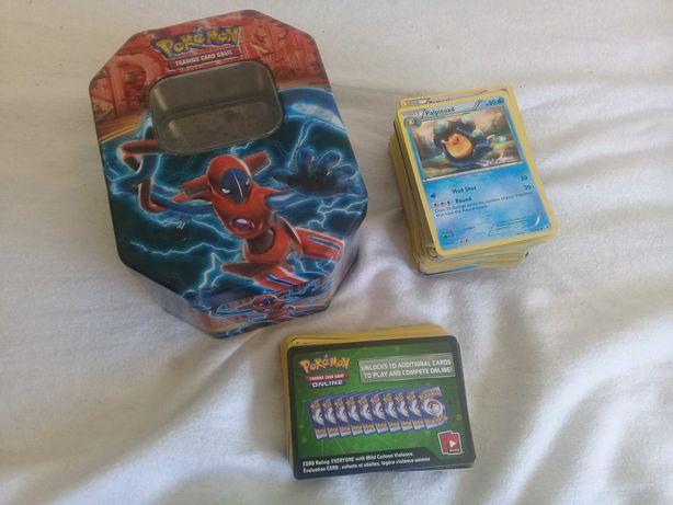 """Pokémon TCG (Trading Card Game) - Cards & Metal Box """"Power of Plasma"""""""