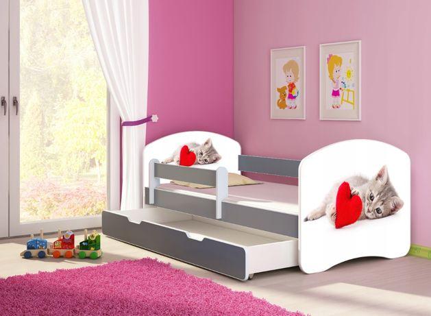 Łóżko łóżeczko dziecięce Szare 140X70