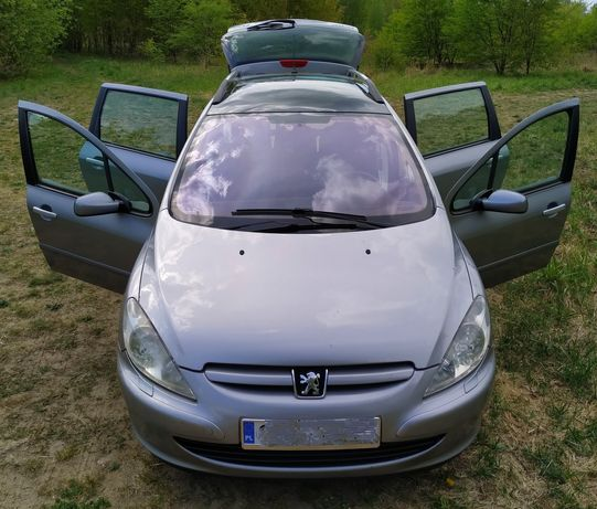 Części Peugeot 307 2.0 HDi silnik drzwi zderzak maska błotnik EZAC EZA