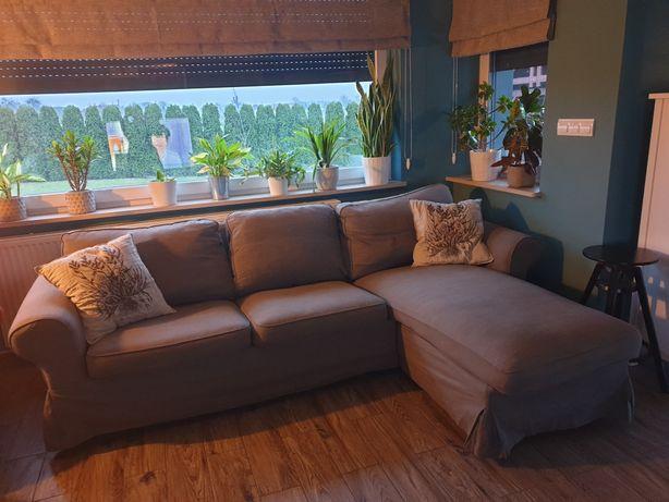 Sofa i gratis Ektorp Ikea szara trzyosobowa leżanka