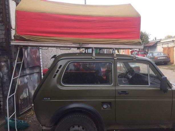 Продам раскладную двухместную автомобильную палатку.