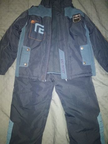 Зимний комбинезон куртка и штаны на мальчика 116