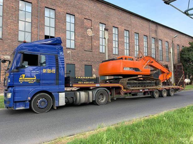 Transport maszyn, laweta niskopodwoziowa, przerzut maszyn, podczołgówa