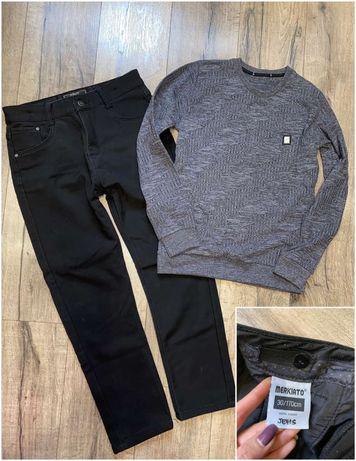 Свитшот фактурный джемпер реглан + брюки на флисе!!! 158-172 см