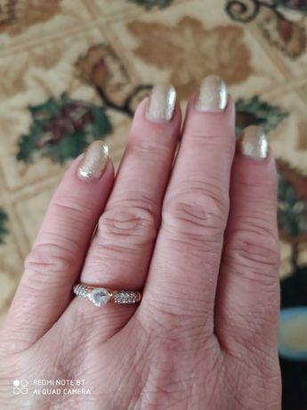 Кольцо серебряное в позолоте