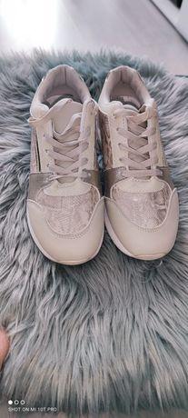 Beżowo- złote sneakersy rozm 41