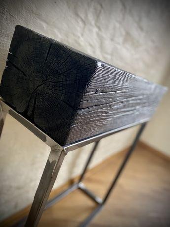 Konsola industrialna Drewniana konsola Konsola z drewna