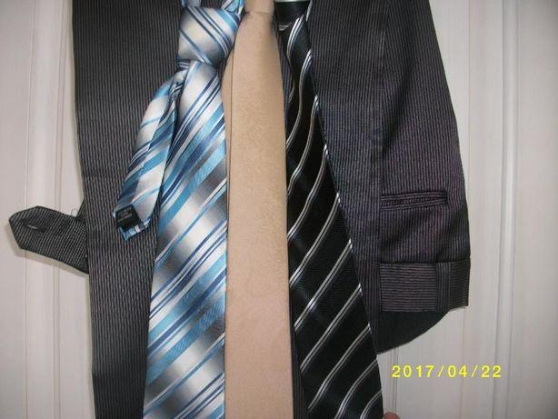 Garnitur męski, jak nowy rozm. 176-178 cm krawat gratis