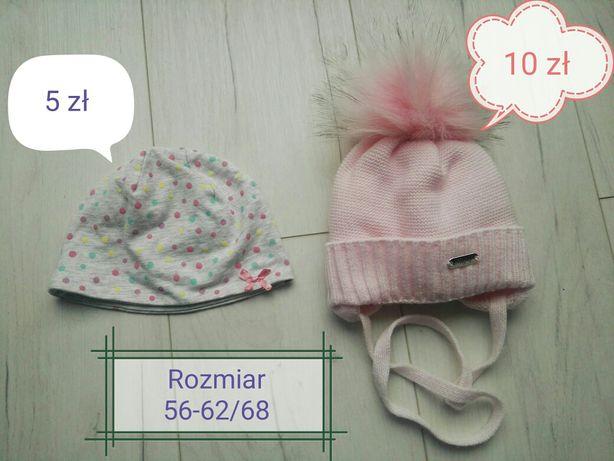 Sprzedam czapki dla dziewczynki rozmiar 56-62/68