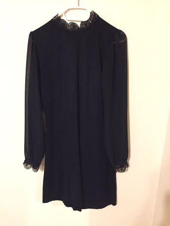 Dzianinowa sukienka czarna Orsay elegancka na jesień Orsay 36 S