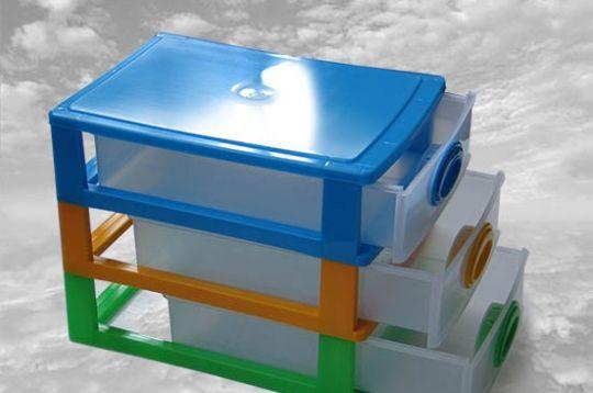 Комод мини пластиковый 3-ярусный Органайзер Комод міні пластиковий