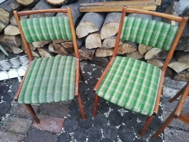 Krzesla Jar, typowy vintage PRL