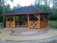 Altana Altanka ogrodowa modrzewiowa 4x6 meble ogrodowe