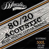 струни D'Angelico 12-струнний набір для 12 струнної гітари