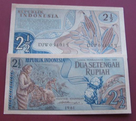 $$$ Banknot 2 1/2 RUPIAH 1961 ROK - INDONEZJA - Z Klasera $$$