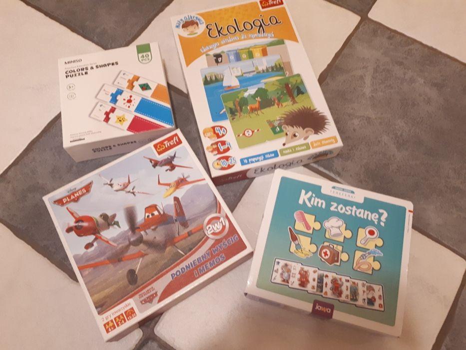 Zestaw gier i puzzli, trefl ekologia, podniebny wyścig gier itp Poznań - image 1