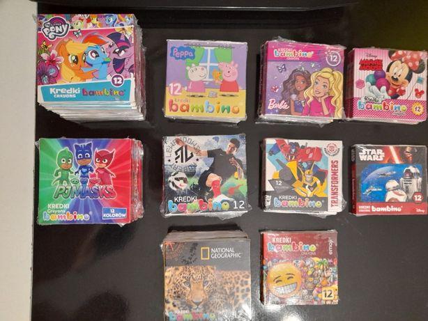 Kredki Bambino 12 kolorów, Nowe z Postaciami z Bajek, Licencjonowane