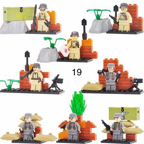 #19 фигурки немецких военных вермахт SWAT спецназ солдаты Лего Lego