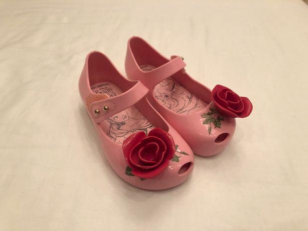 Туфельки туфли балетки Mini Melissa 22 детские девичьи Beauty Beast