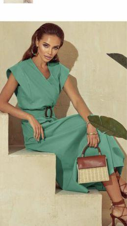 Красивое нарядное платье на торжество цвета мяты лаванды,48- 50