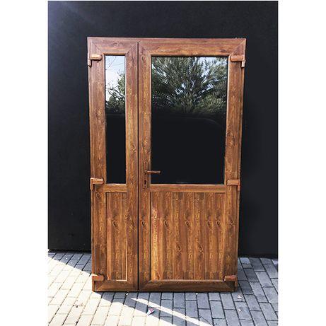 Drzwi PCV, Plastikowe 125x210 złoty dąb