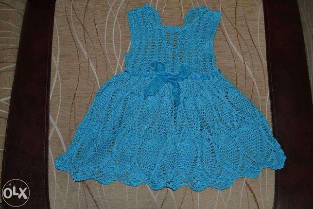 Платье на 1,5 годика (ручная работа)