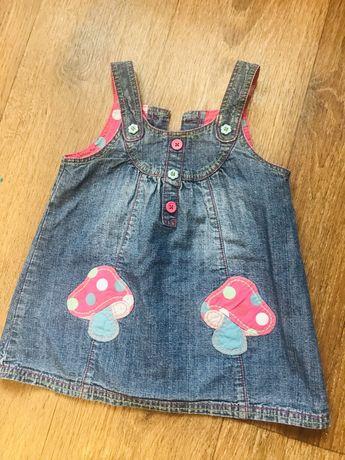 Сарафан джинсовий джинсовый next 12-18 месяцев платье на девочку рост