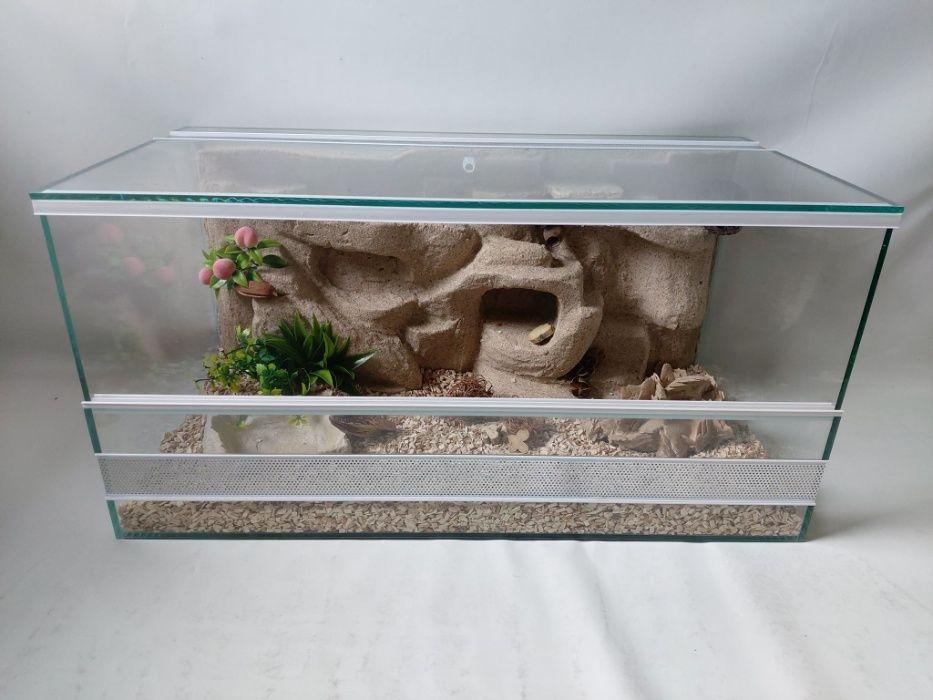 Nowe terrarium 70x35x35 + wystrój pustynny, AquaWaves, gekon, wąż Ełk - image 1