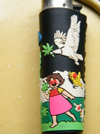 "Clipper isqueiro capa ""Heidi & Peter Smoking Weed"""