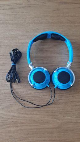 Słuchawki nauszne niebieskie