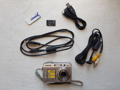 Pack Sony Cyber-shot DSC-S500 + cartão de memória