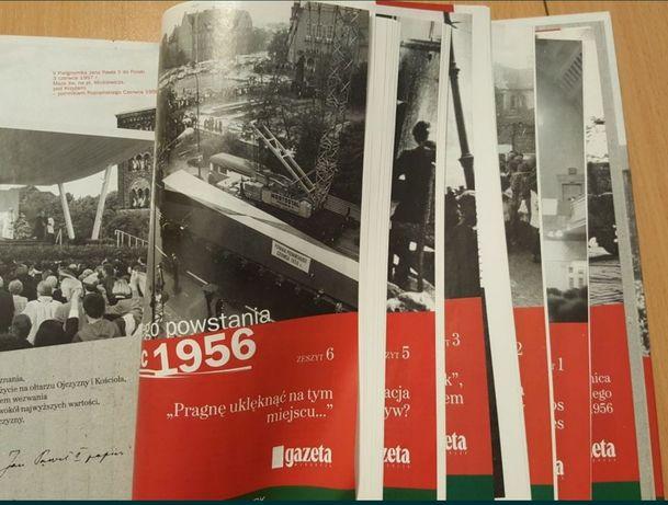 Segregator z zeszytami Kronika poznańskiego CZERWCA 1956 i 2 płyty
