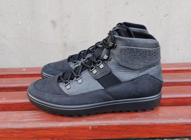 41 р. Кожаные демисезонные ботинки кроссовки кеды ecco soft 7