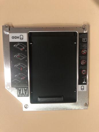 Adaptador drive dvd para hdd extra mais caixa portatil para dvd