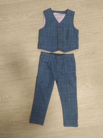 Нарядный костюм джентельмена на мальчика 2-3 года next h&m