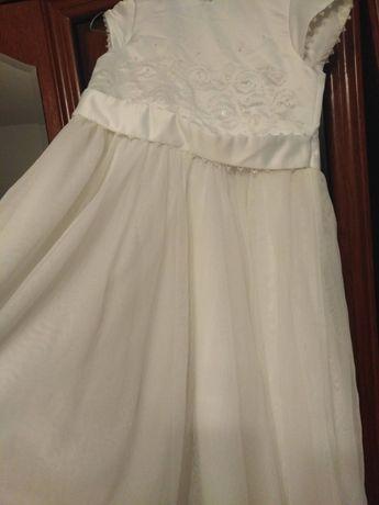 Sukienka 140 biała wizytowa