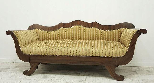 Antyczna Kanapa w stylu biedermeier XIX w. sofa szezlong antyk