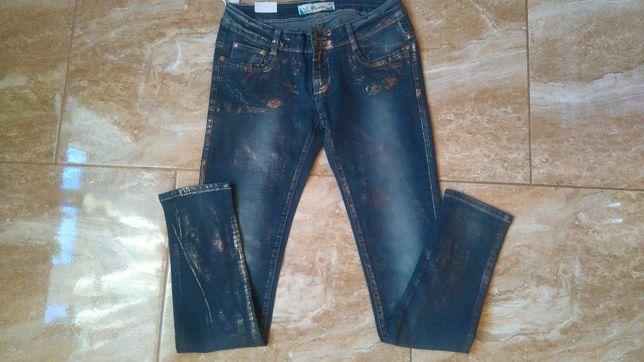Nowe spodnie rurki roz 38 metka