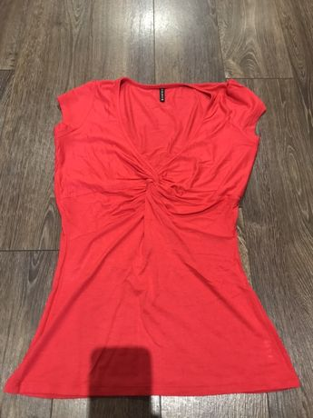 Czerwona kopertowa bluzka Amisu