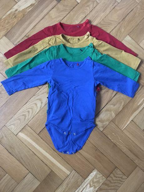 Kolorowe body niemowlęce 4 szt.