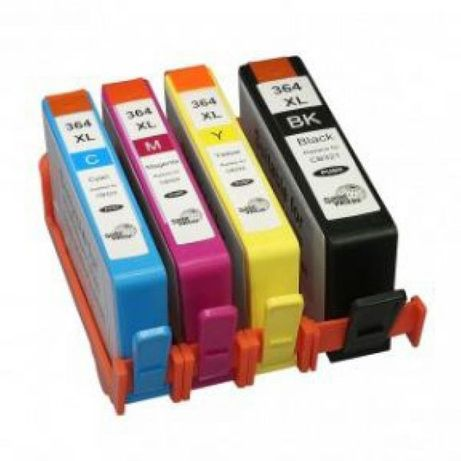 Conjunto 4 tinteiros compativeis HP - 364XL -BK/C/M/Y