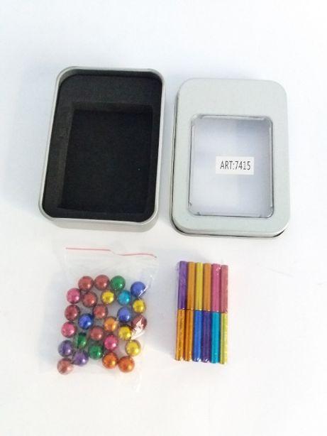 Магнитный конструктор антистресс магнитные палочки/шарики 63 детали